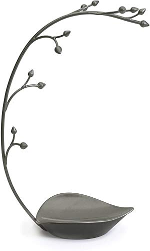 Umbra Orchid Schmuckständer und Schmuckbaum für Ketten mit integrierter Schmuckablage, Metall
